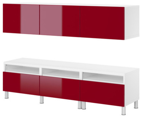 BESTÅ Bench and wall cabinet - Scandinavian - Display And Wall Shelves - by IKEA