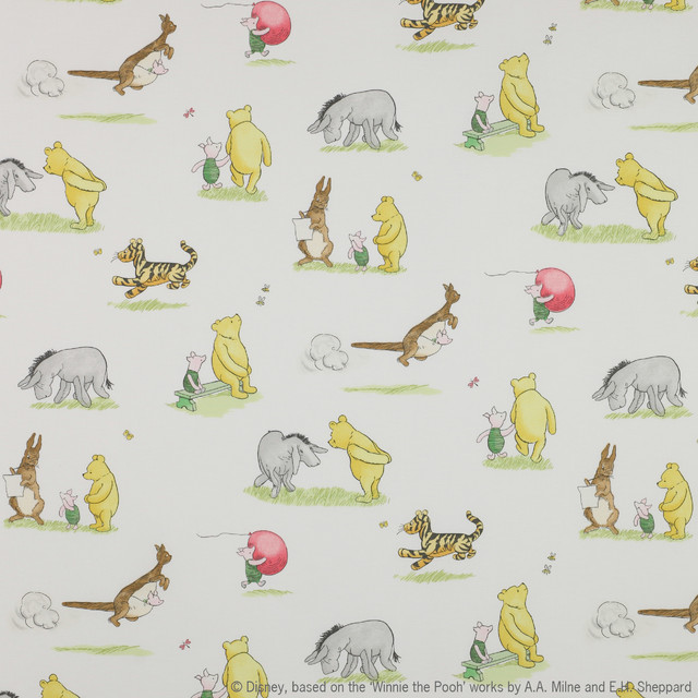 winnie the pooh and friends fabric vintage traditional fabric by covered in style inc. Black Bedroom Furniture Sets. Home Design Ideas