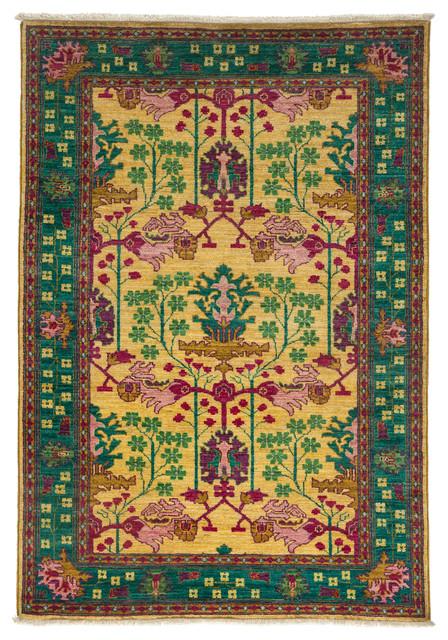 darya rugs arts and crafts lemon 4 39 0 x 5 39 2 m1783 298. Black Bedroom Furniture Sets. Home Design Ideas