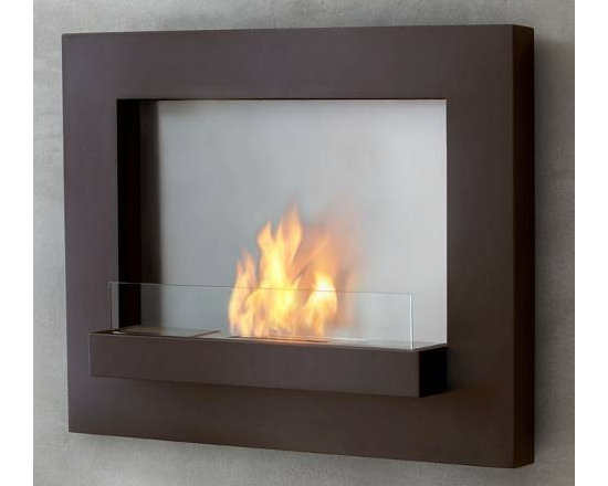 """Real Flame Rust Edgerton Wall Fireplace - Dimensions: 36"""" L x 30"""" H x 6.75"""""""