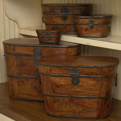 Wood & Iron Boxes traditional storage boxes