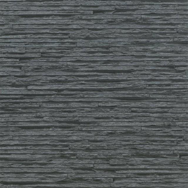 erismann brix slate brick effect wallpaper gray black