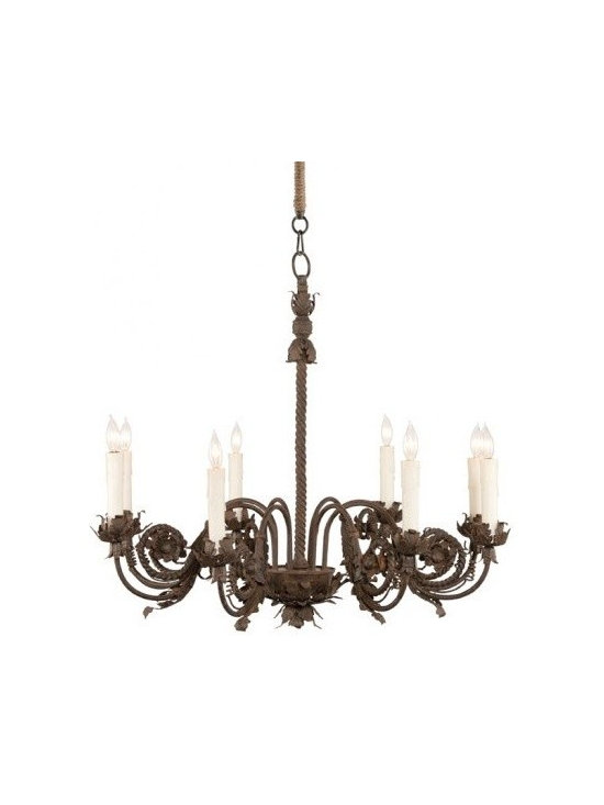 Aidan Gray Ferronnerie Chandelier - Hand turned iron adds the right amount of visual weight to any room.