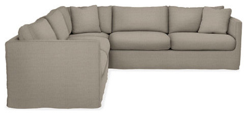 ... L Shape Sectional Sofa : Clive L Shaped With Right Arm Corner Sofa  Slipcovered ...