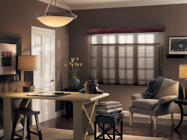 Pleated Shades contemporary-window-blinds