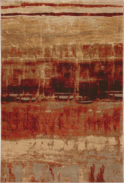 "Karastan Artois 74800-14104 5'6"" x 8'3"" Mericourt Crimson Rug contemporary-rugs"