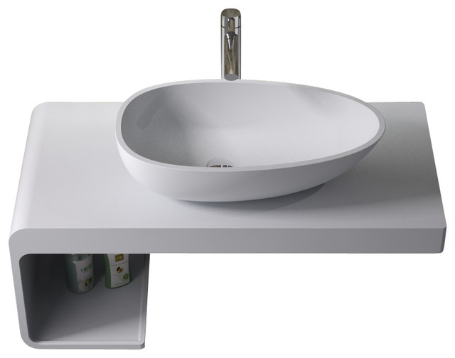 Stone Resin Sink : Stone Resin Counter Top Sink, Matte - Contemporary - Bathroom Sinks ...