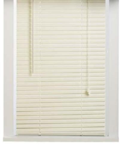 "Alabaster Vinyl 1"" Mini Blinds traditional-venetian-blinds"