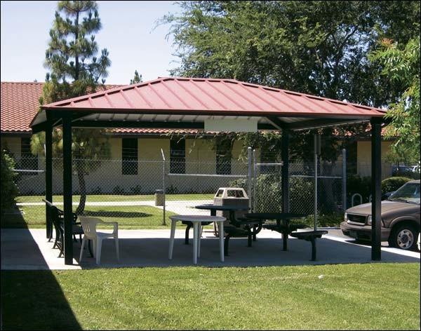 16' x 20' All Steel Rectangular Summerset Pavilion contemporary-gazebos