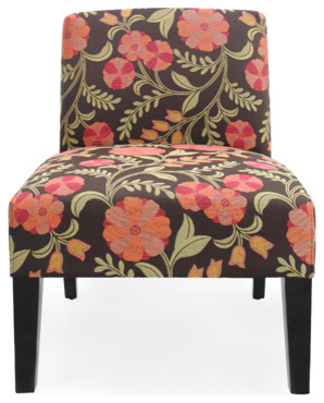 Floral Accent Chair contemporary-chairs