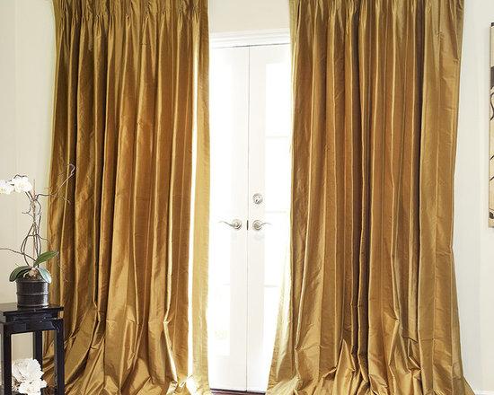 Custom Silk Drapery -