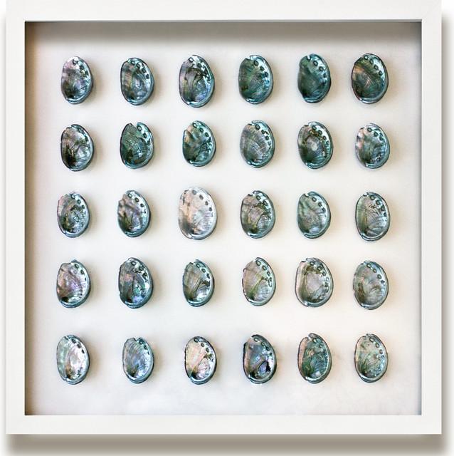 Corolla Coastal Beach Teal Blue Abalone Shell Wall Decor - by Karen Robertson beach-style-artwork