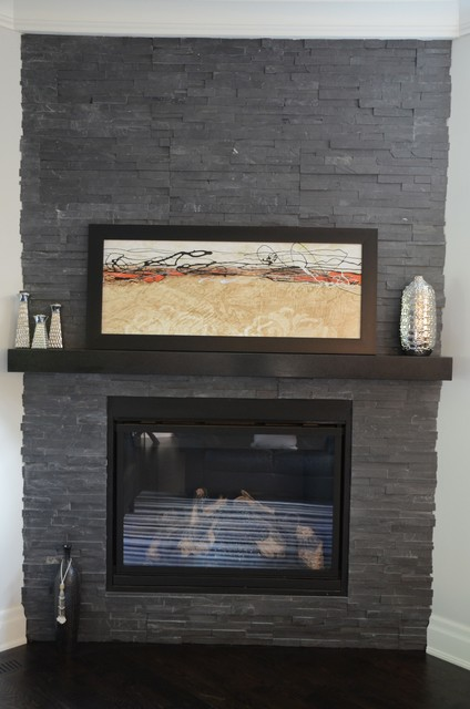 ledgestone wallcladding Fireplace