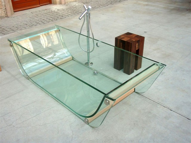 prizma glass bath collection contemporary-bathtubs