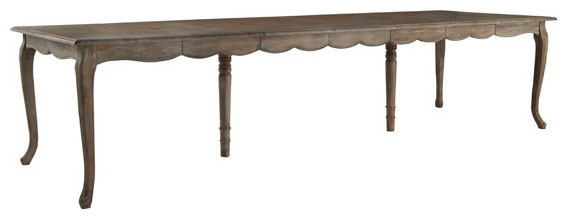 French Country Dining Table with Leaves traditional dining tables