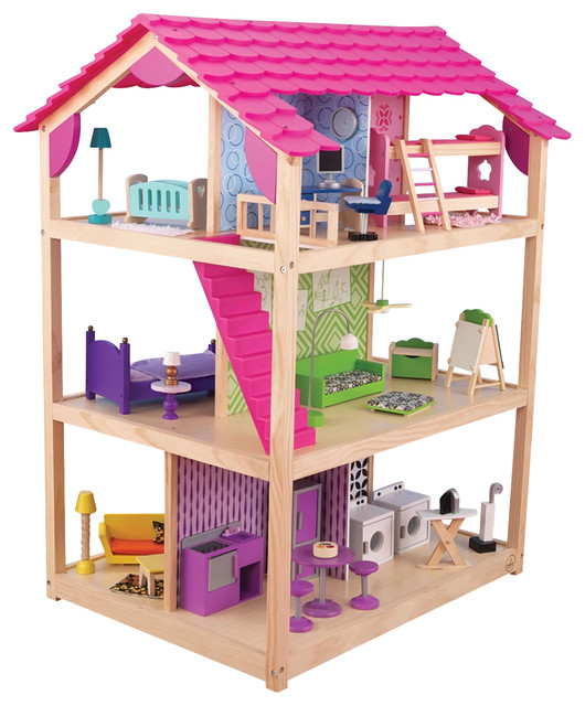 Kidkraft Kids Home Indoor Pretend Play Imaginative Toy So Chic Dollhouse - Contemporary - Kids ...