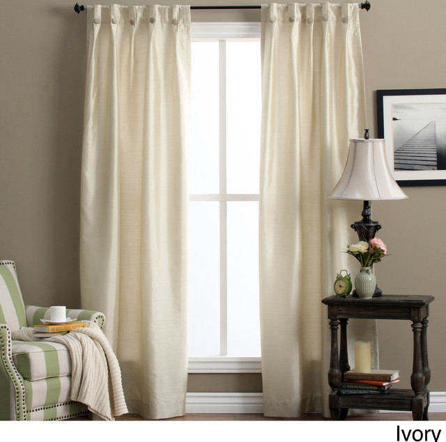 Pleated Curtains For Curtain Box : ... Box-pleated Back Tab Curtain Panel Pair - Contemporary - Curtains - by