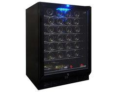 Vinotemp - 58-Bottle Black Wine Cooler (Black) modern-beer-and-wine-refrigerators