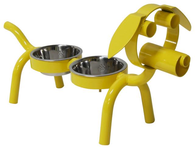 Dog Bowl, Powder-Coated Finish contemporary-pet-bowls-and-feeding