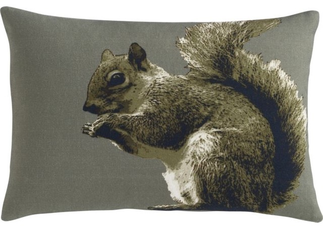Squirrelly 18x12 Pillow contemporary pillows
