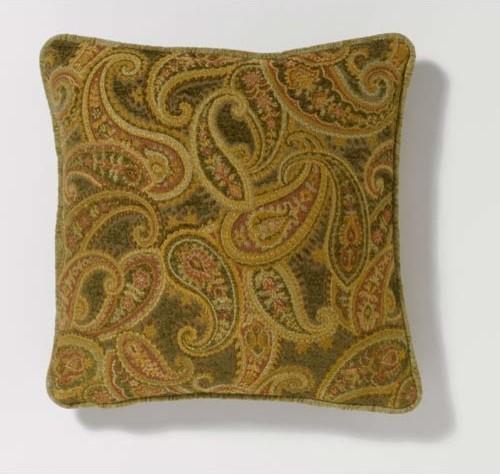 Rose-Green Paisley Pillow traditional-decorative-pillows