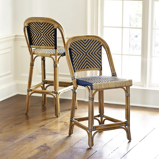 Paris Bistro Barstool Traditional Bar Stools And