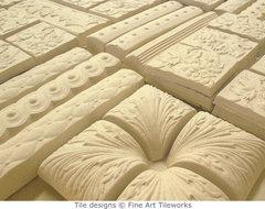 Bisque kiln load — © Fine Art Tileworks traditional