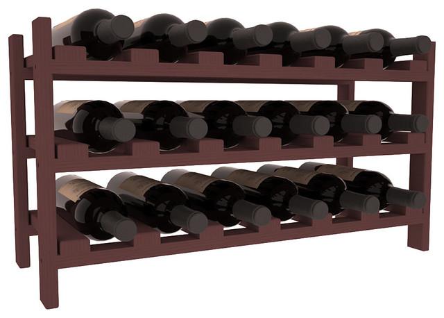 18 Bottle Stackable Wine Rack in Pine, Walnut Stain - Contemporary - Wine Racks - by Wine Racks ...