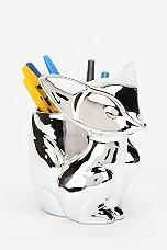 Silver Fox Pencil Cup contemporary-desk-accessories
