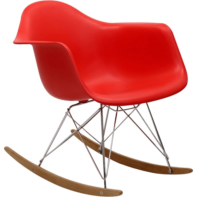 Steel | Lark Rocker Rocking Chair contemporary-rocking-chairs