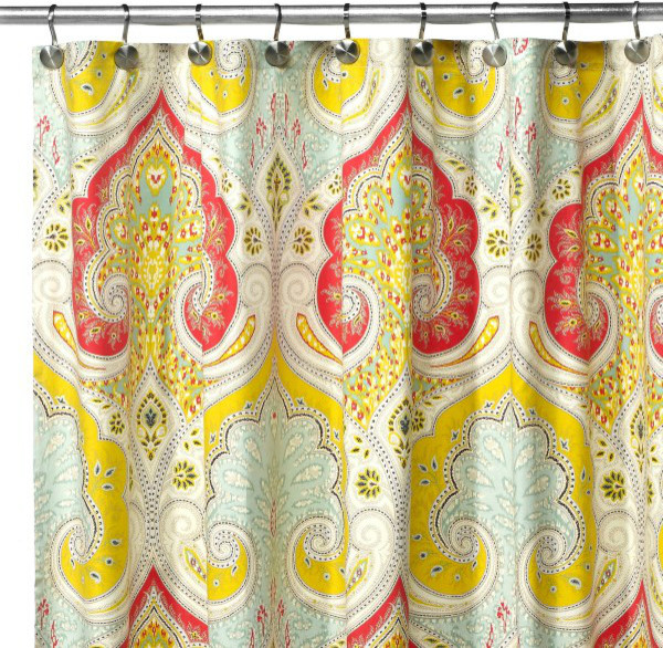 Echo Design™ Jaipur Fabric Shower Curtain contemporary shower curtains