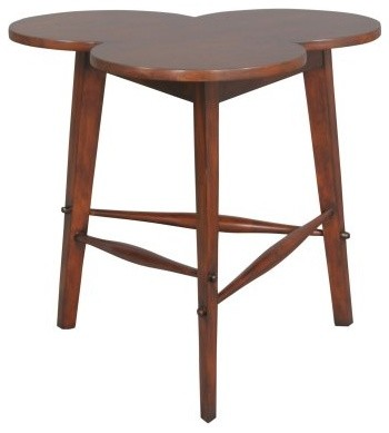 Country Cloverleaf Table - Distressed modern-side-tables-and-end-tables