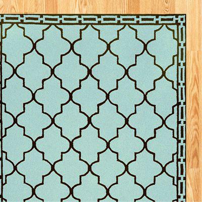 Aqua Floor Tile Indoor Outdoor Rug Contemporary