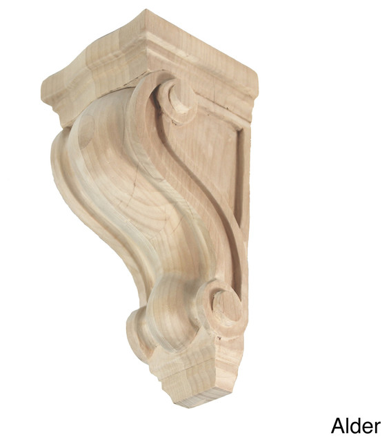 Hand-carved Unfinished Solid Hardwood Corbel - Contemporary - Corbels - by Overstock.com