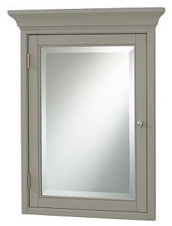 Hotel Medicine Cabinet, Recessed Mount, Gray - Traditional - Medicine Cabinets - by Pottery Barn