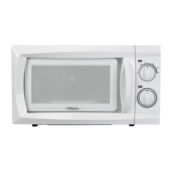 Haier 0.6 Cubic-Foot 600W Microwave White contemporary-serveware