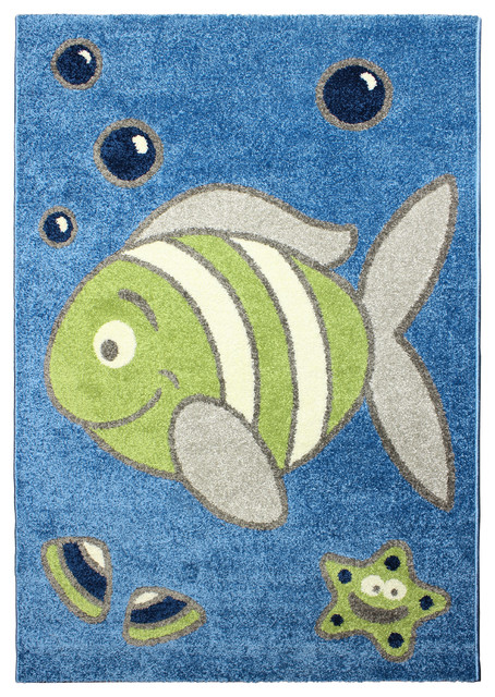 magic under the sea rug blue area rug 3 39 11 x 5 39 7 contemporary rugs by. Black Bedroom Furniture Sets. Home Design Ideas