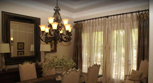 Dining Room with Dreamy Drapes traditional-dining-room