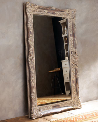 Antique french floor mirror traditional floor for Vintage floor length mirror