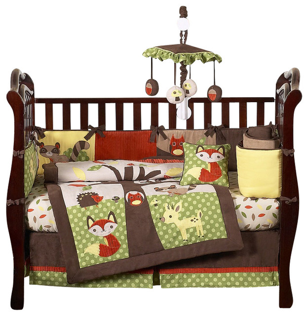 Forest Friends 9-Piece Baby Crib Bedding Set by Sweet Jojo Designs traditional-kids-bedding