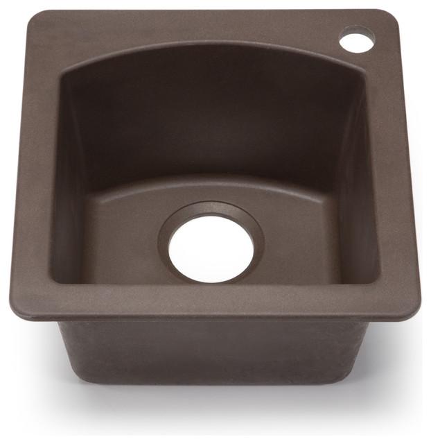 Blanco silgranit diamond cafe brown dual mount bar sink for Silgranit bathroom sinks
