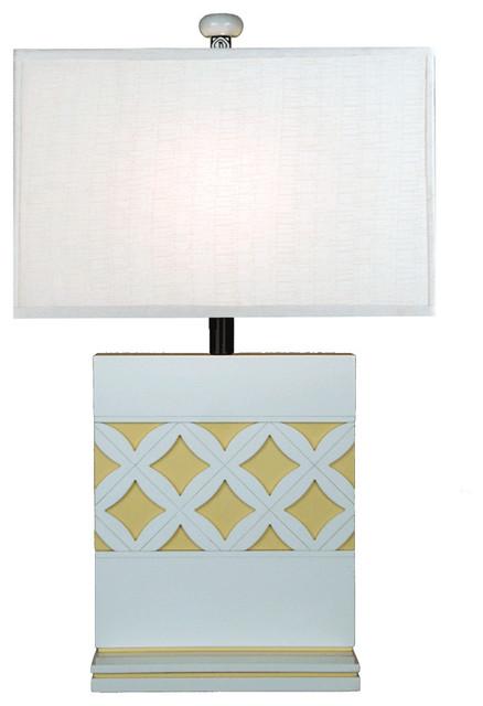 Vintage Linen Lamp transitional-table-lamps