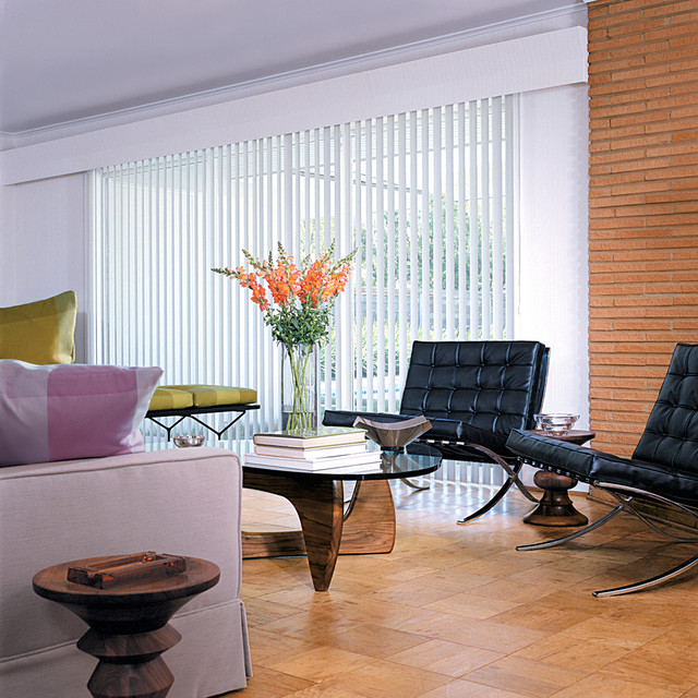 Vertical Solutions® Select Vertical Blinds with PermAssure® safety wand contemporary-vertical-blinds