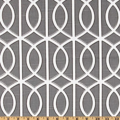 54 Wide DwellStudio Bella Porte Charcoal Fabric modern fabric