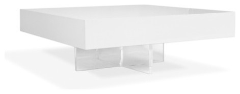 Lacquer Block Coffee Table modern-coffee-tables