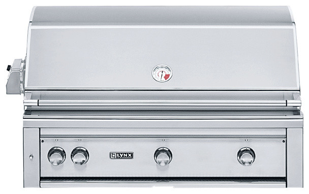 """Lynx 42"""" Built-in Grill with Rotisserie (L42R-1) traditional-grills"""