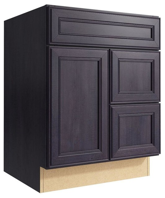 Cardell Cabinets Boden 24 in. W x 31 in. H Vanity Cabinet Only in Ebon Smoke - Contemporary ...
