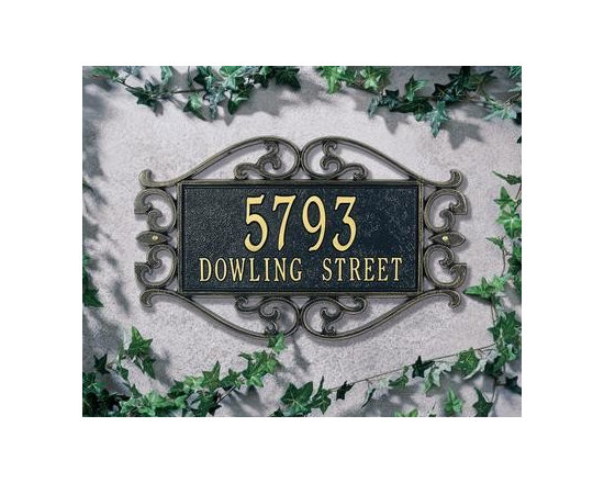 Home & Garden Accents - Find this beautiful address plaque and others on our website. Comes in variety of styles and colors.