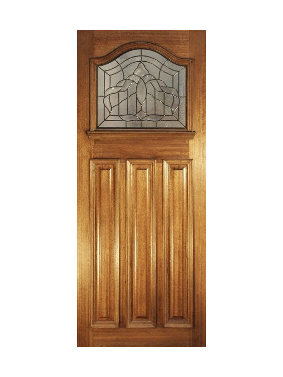 Doors by ABL Doors - This Hardwood Estate Leaded door helps your house to greet all visitors in a comforting and warm manner. The leaded pattern shows a touch of character in its otherwise traditional and regal appearance.
