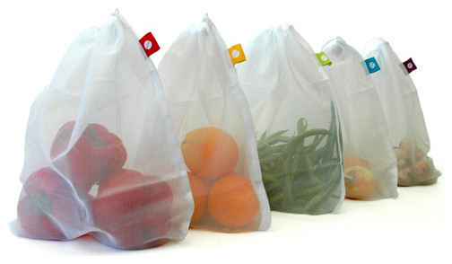 Produce Bags, Set of 5 modern-food-containers-and-storage